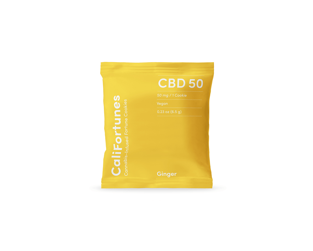 CaliFortunes 600mg CBD Ginger Cookie Bag