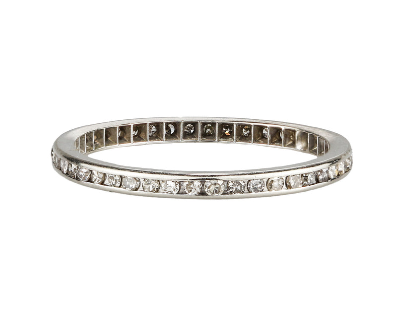 Platinum 0.30 CT Single Cut Diamond Eternity Band