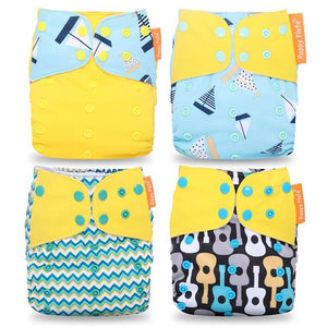 Washable Cloth Diapers with Pocket 4 Pack