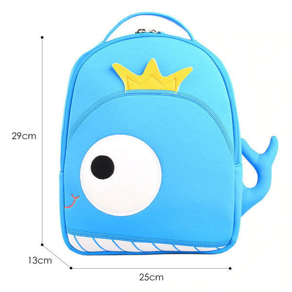 Neoprene Water Resistant Backpack With Reins Wally Whale