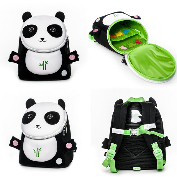 Neoprene Water Resistant Backpack With Reins Percy Panda