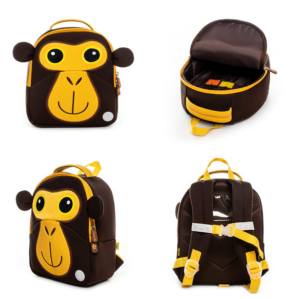Neoprene Water Resistant Backpack With Reins Max Monkey