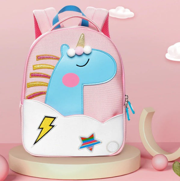 Neoprene Water Resistant Backpack With Reins Princess Unicorn