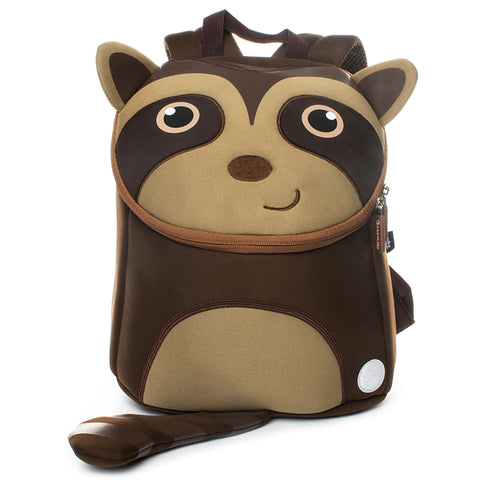 Neoprene Water Resistant Backpack With Reins Remy Raccoon