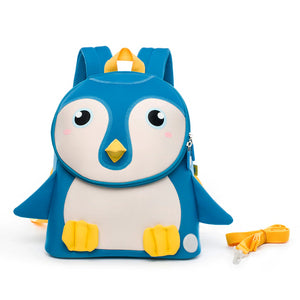 Neoprene Water Resistant Backpack With Reins Petey Penguin