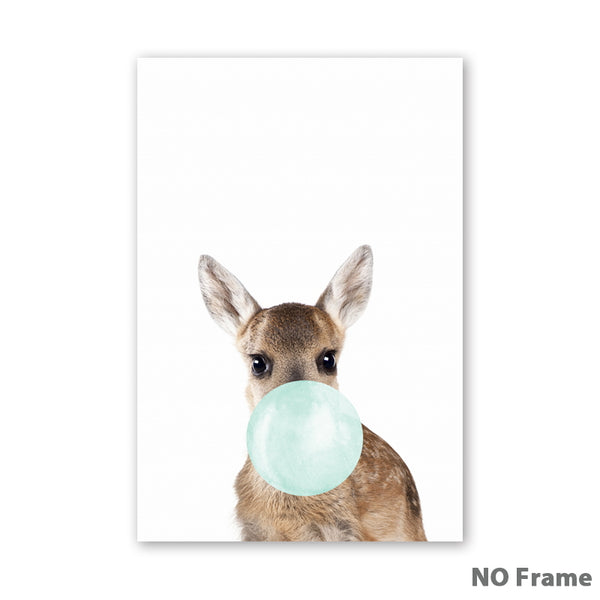 Bubble Gum Kangaroo Canvas Art Print