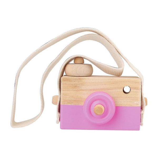 Wooden Camera Toy on Strap