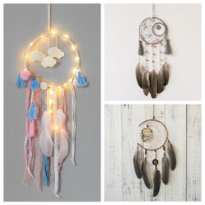 Cloud, Butterfly, Owl Dream Catchers