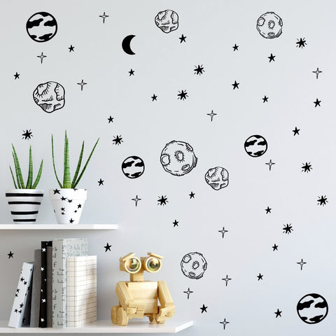 Blastoff! Outer Space Wall Decals
