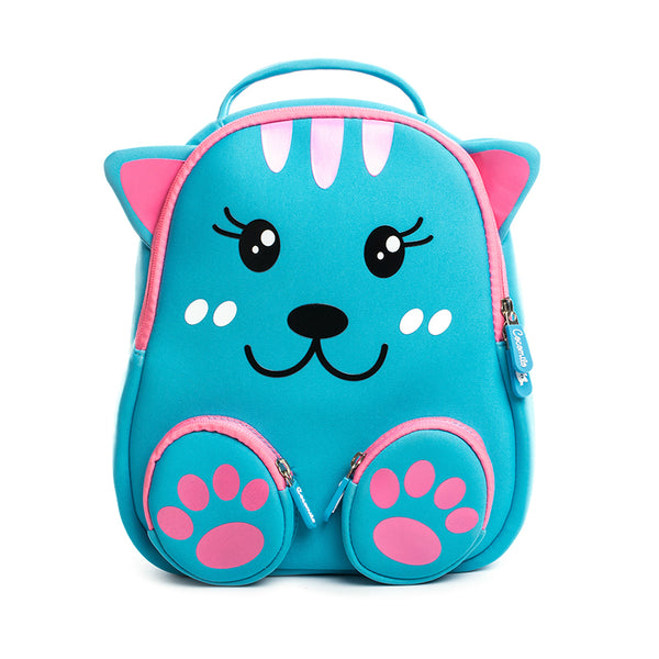 Neoprene Water Resistant Backpack With Reins Kayla Kitty Cat