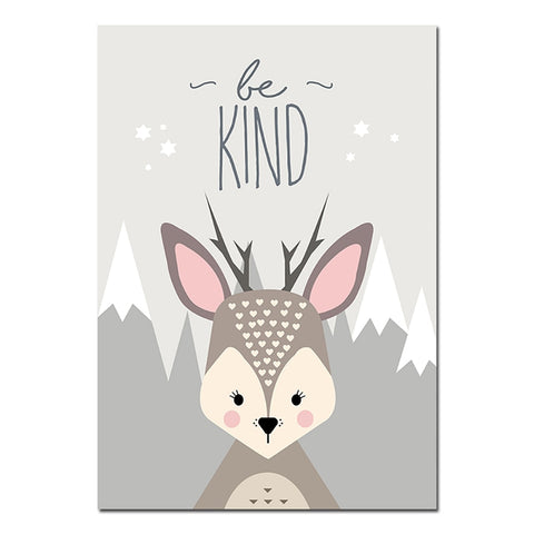 Forest Animal Canvas Quotes Art Prints