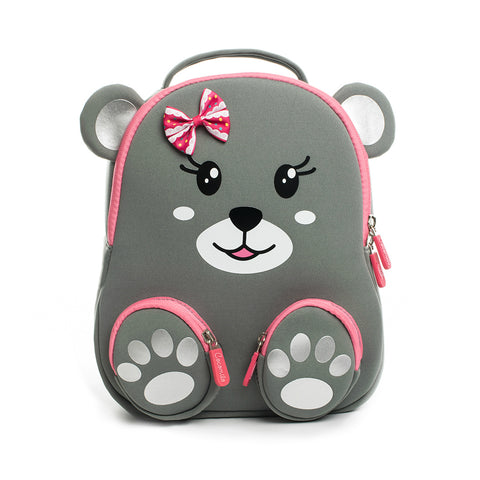 Neoprene Water Resistant Backpack With Reins Bella Bear