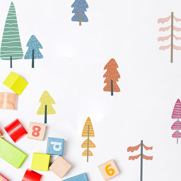 Cute & Colorful Tree Wall Decals