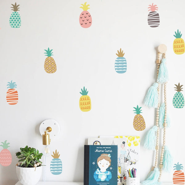 Cute & Colorful Pineapple Wall Decals