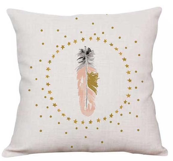Fabulous in Flamingo Pillow Cover - Flamingo Feather Throw Pillow Cover
