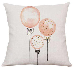 Fabulous in Flamingo Pillow Cover - Pretty Pink Balloons Throw Pillow Cover