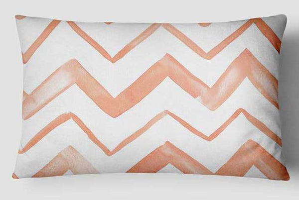 Fabulous in Flamingo Pillow Cover - Pink Chevron Throw Pillow Cover