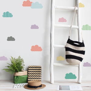 Cute & Colorful Cloud Wall Decals