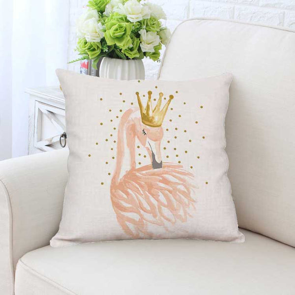 Fabulous in Flamingo Pillow Cover - Light Pink Flamingo Princess Throw Pillow Cover