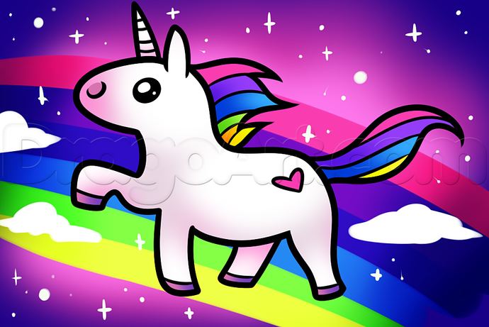Licorne Kawaii Facile à Dessiner