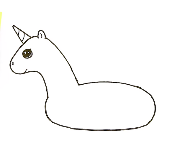 dessin bouee licorne simple
