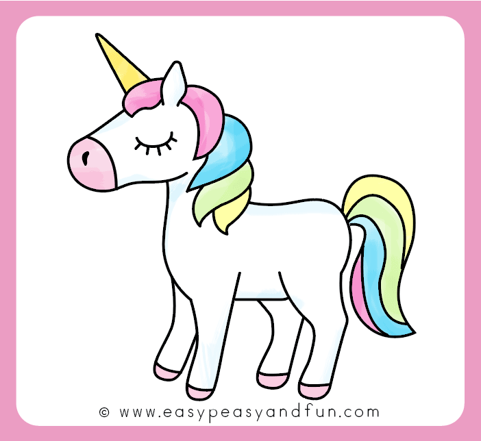 Coloriage U La Licorne.Comment Dessiner Une Licorne Une Methode Facile Dessin