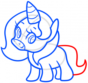 dessiner queue bebe licorne kawaii