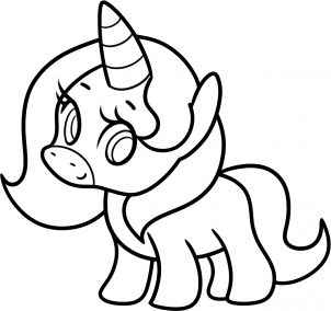 Comment dessiner un bebe licorne kawaii