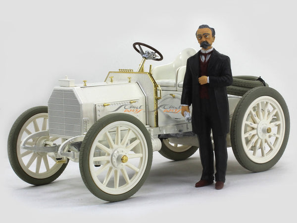 1901 Mercedes 35 HP with figure 1:18 Schuco diecast Scale Model Car
