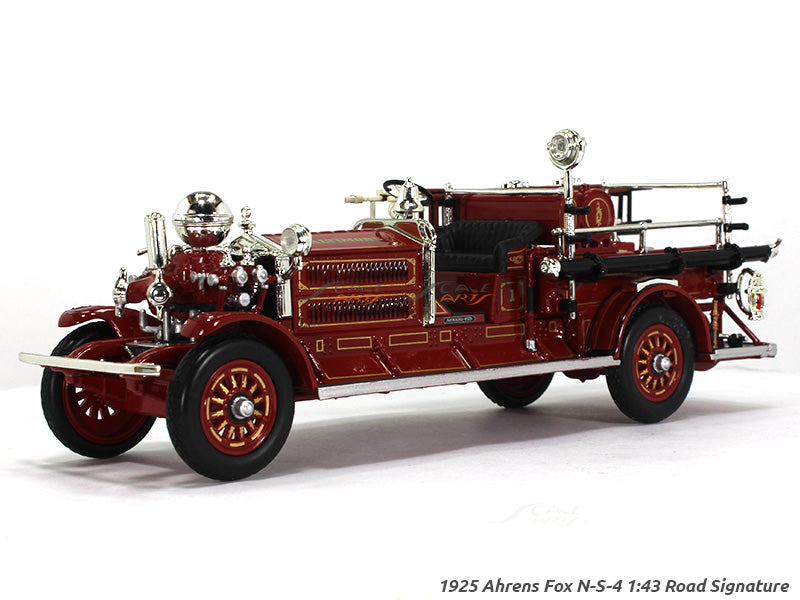 Oxford Car And Truck >> 1925 Ahrens Fox N-S-4 Fire engine 1:43 Road Signature Yatming diecast | Scale Arts India