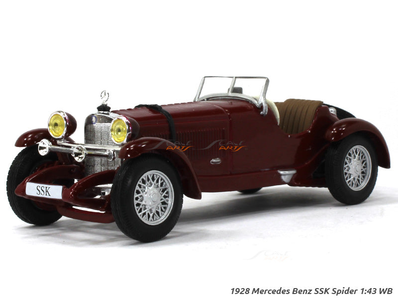 1928 Mercedes Benz Ssk Spider 1 43 Whitebox Diecast Scale