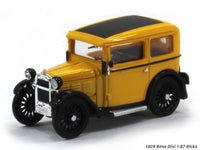 1929 Bmw Dixi yellow 1:87 Ricko HO Scale Model car