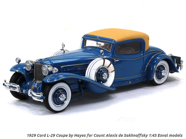 Pre order  : 1929 Cord L-29 Coupe by Hayes for Count Alexis de Sakhnoffsky 1:43 Esval models scale model car