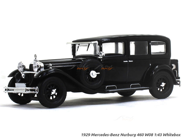1929 Mercedes-Benz Nurburg 460 W08 1:43 Whitebox diecast Scale Model Car