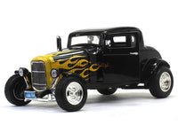 1932 Ford Five Window Coupe black 1:18 Motormax diecast scale model car