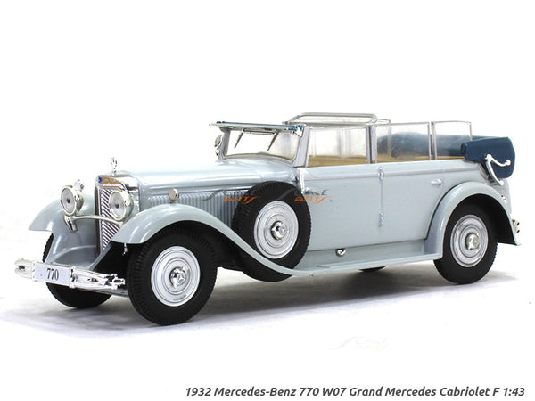 1932 Mercedes-Benz 770 W07 Grand Mercedes Cabriolet F 1:43 diecast Scale Model Car