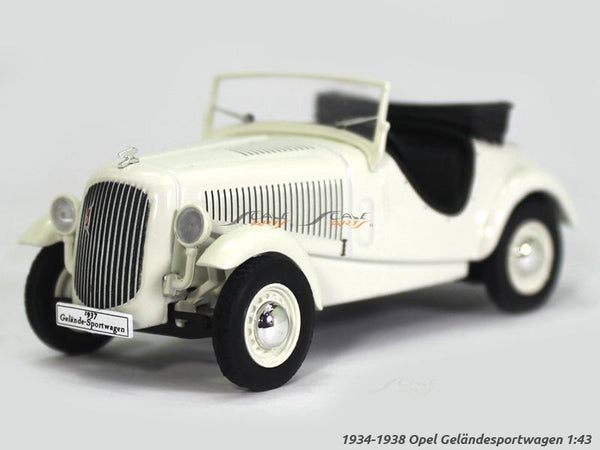 1934-1938 Opel Gelandesportswagen 1:43 diecast Scale Model Car