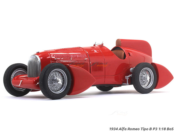 1934 Alfa Romeo Tipo B P3 1:18 BoS scale model car