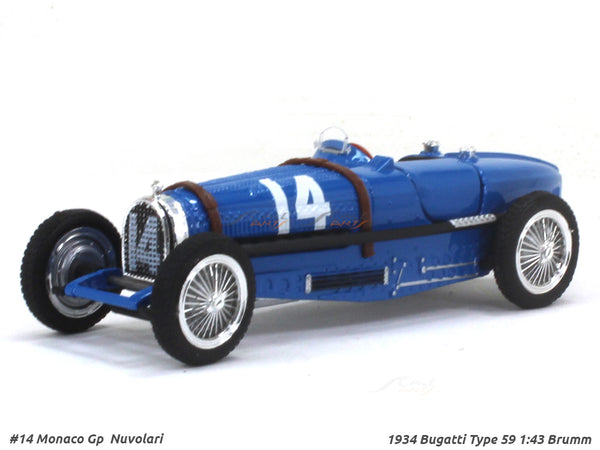 1934 Bugatti Type 59 1:43 Brumm diecast Scale Model Car