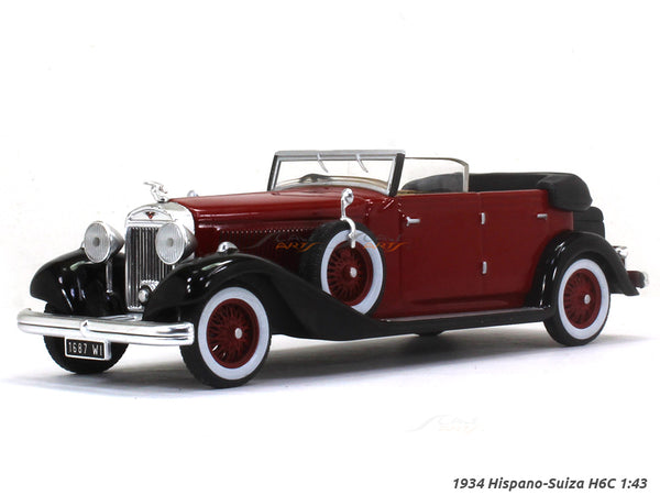 1934 Hispano-Suiza H6C 1:43 diecast Scale Model Car
