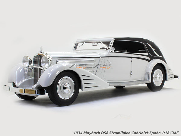 1934 Maybach DS8 Stromlinien Cabriolet Spohn 1:18 CMF scale model car