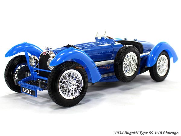 1934 Bugatti Type 59 1:18 Bburago diecast Scale Model car