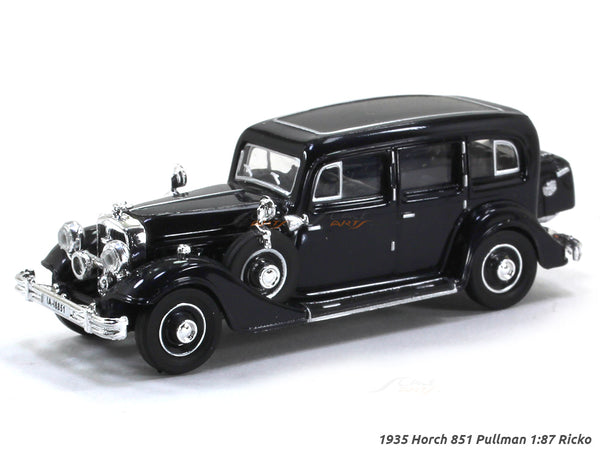 1935 Horch 851 Pullman black 1:87 Ricko HO Scale Model car