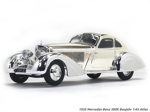 1935 Mercedes-Benz 500K Baujahr chrome 1:43 Atlas diecast scale model car