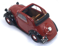 1936 Fiat 500 A Topolino Trasformabile red 1:18 Laudoracing Scale Model car
