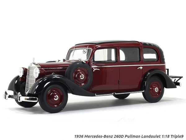 1936 Mercedes-Benz 260D Pullman Landaulet closed 1:18 Triple9 scale model car