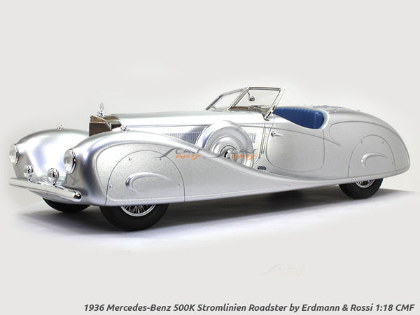 1936 Mercedes-Benz 500K Stromlinien Roadster by Erdmann & Rossi 1:18 CMF scale model car
