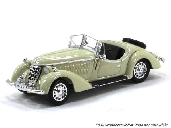 1936 Wanderer W25K Roadster 1:87 Ricko HO Scale Model car