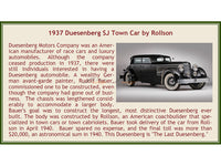Pre-order : 1937 Duesenberg SJ Town Car Chassis 2405 by Rollson for Mr Rudolf Bauer 1:18 Esval models scale car