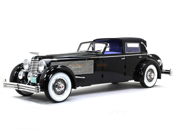 1937 Duesenberg SJ Town Car Chassis 2405 by Rollson for Mr Rudolf Bauer half open 1:18 Esval models scale car